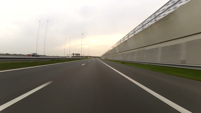 Driving on the highway POV