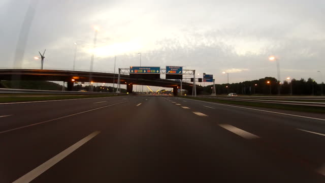 pov driving on the highway - utrecht stock videos and b-roll footage