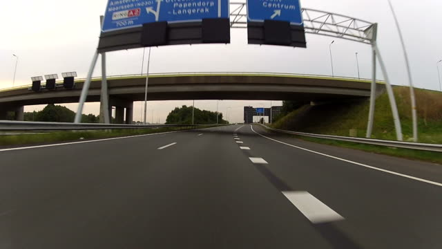 driving on the highway with gopro camera mounted - utrecht stock videos and b-roll footage