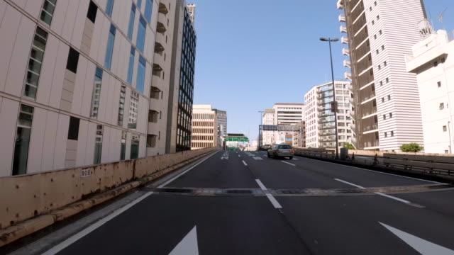 driving on the metropolitan expressway / bulk 8/28 / route c1 / unusually light traffic - plusphoto stock videos & royalty-free footage
