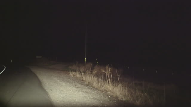 driving on the night's road in california. driver's point of view - reflector stock videos & royalty-free footage