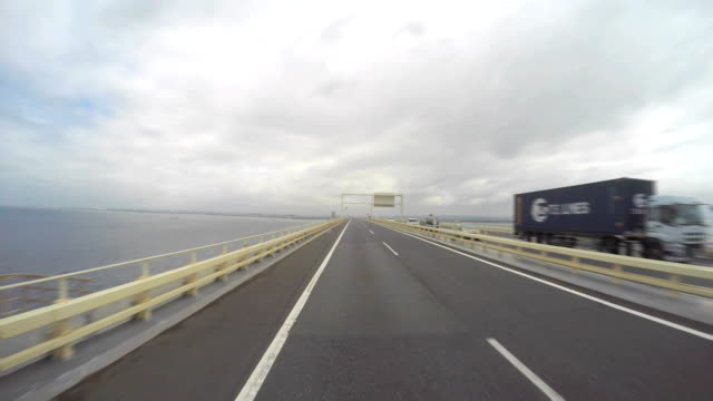 driving on the ocean -tokyo bay aqua-line- 4k- - plusphoto stock videos & royalty-free footage