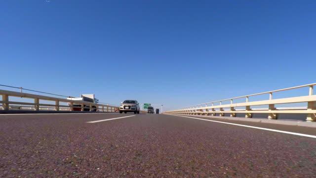 Driving on the ocean -Tokyo Bay Aqua-Line -rear view- 4K-