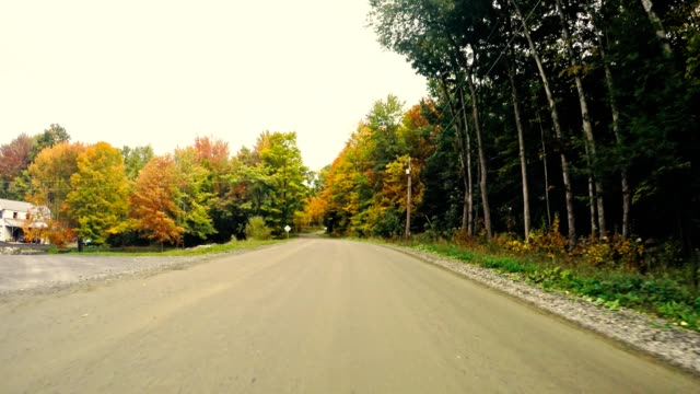 driving on the road in new england