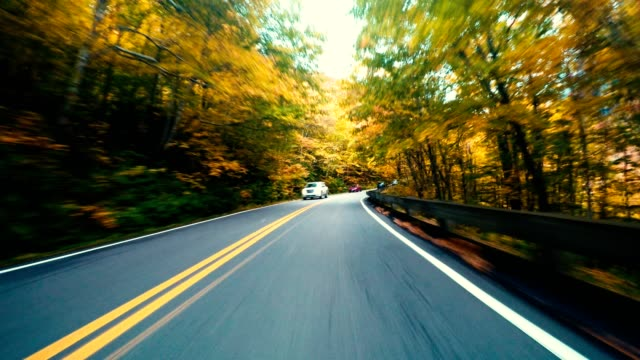 driving on the road in new england - vermont stock videos & royalty-free footage