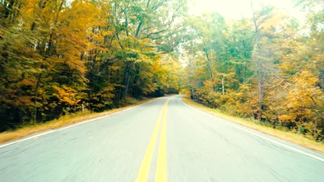 driving on the road in new england - dividing line stock videos & royalty-free footage