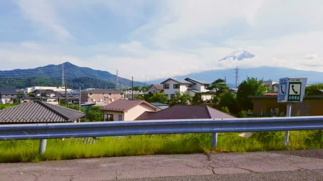driving on the road in the car to mt. fuji - motor vehicle stock videos & royalty-free footage