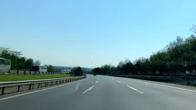 driving on the road time lapse - speed limit sign stock videos & royalty-free footage