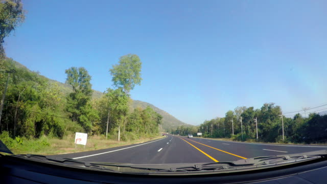 driving on the road - satoyama scenery stock videos & royalty-free footage