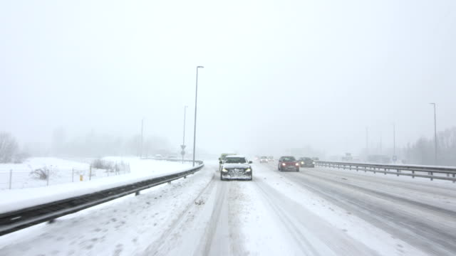 Driving On The Snowy Highway