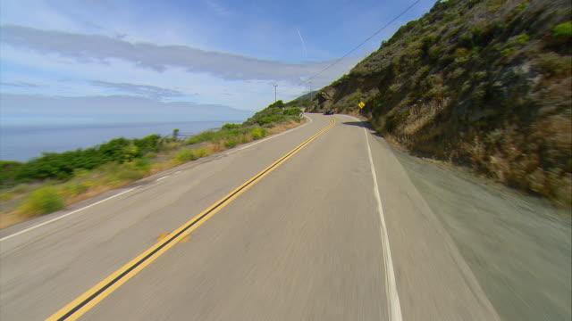 POV Driving on U.S.1 along California coast, Gorda, California, USA