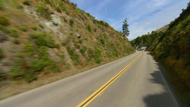 pov driving on u.s.1 along california coast, gorda, california, usa - coastal road stock videos & royalty-free footage