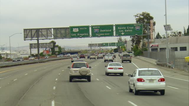 POV Driving on U.S.101 near Santa Clara, California, USA