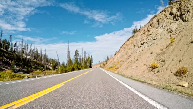 driving on wyoming the grand teton national park - grand teton stock videos & royalty-free footage
