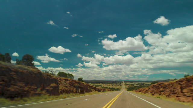 pov driving open road - arizona stock videos & royalty-free footage