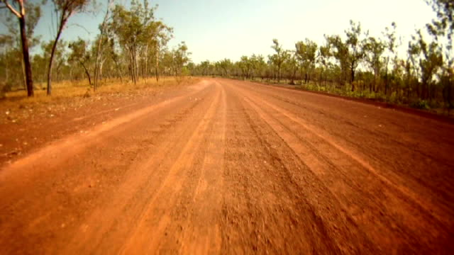 ntsc time lapse: driving outback - bush stock videos & royalty-free footage