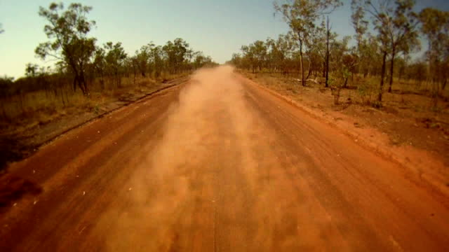 ntsc time lapse: driving outback - outback stock videos & royalty-free footage