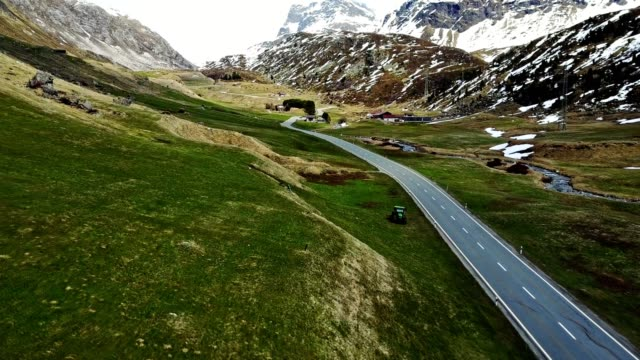 driving over the julier pass - snowcapped mountain stock videos & royalty-free footage
