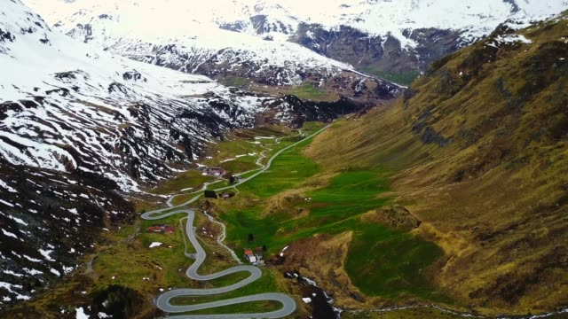 driving over the julier pass - mountain pass stock videos & royalty-free footage