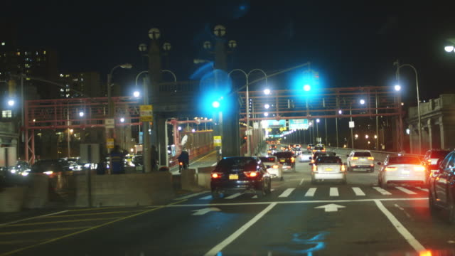 driving over williamsburg bridge in new york city, point of view shot - williamsburg bridge stock videos and b-roll footage