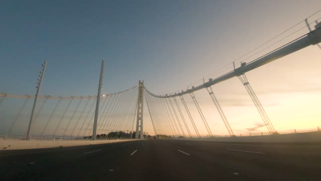 driving perspective bay bridge eastern span - western usa stock videos & royalty-free footage