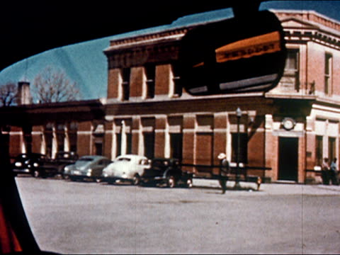 1950 driving point of view through small town / gunnison, colorado / audio - gunnison stock videos & royalty-free footage