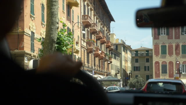 vidéos et rushes de driving pov of a hand on a steering wheel. - slow motion - exploration
