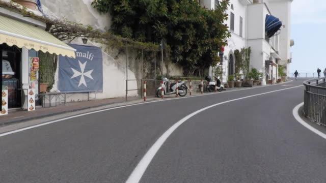 driving pov on the amalfi coast road. - amalfi stock videos and b-roll footage