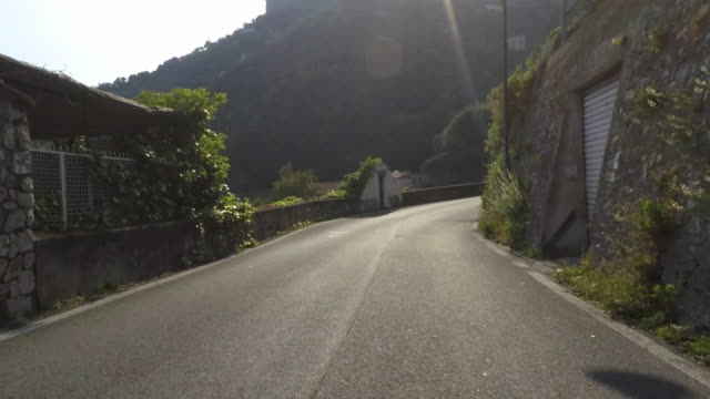 Driving Pov on the Amalfi coast road.
