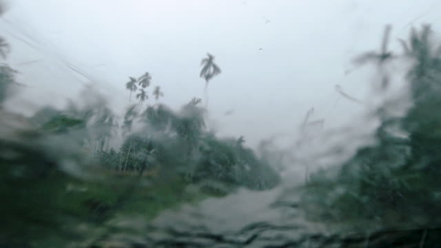 driving process plates in rural thailand extreme weather monsoon season drivers point of view - typhoon stock videos & royalty-free footage