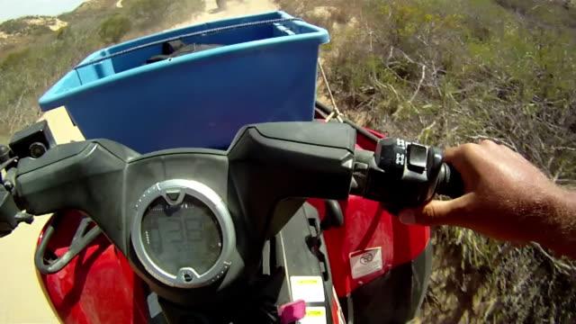 hd: driving quadbike - quadbike stock videos & royalty-free footage