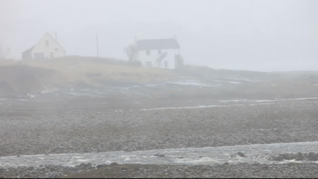 Driving rain in Broadford on the Isle of skye, Scotland ,UK.