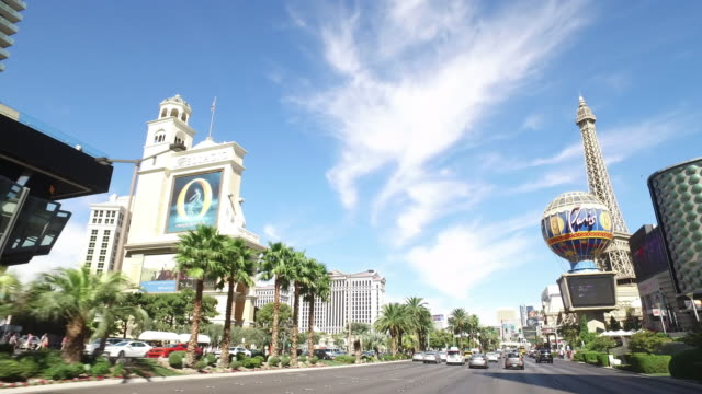 driving shot of las vegas at day time. - las vegas stock videos & royalty-free footage