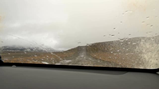 SLO MO Driving somewhere in the wilderness of Iceland