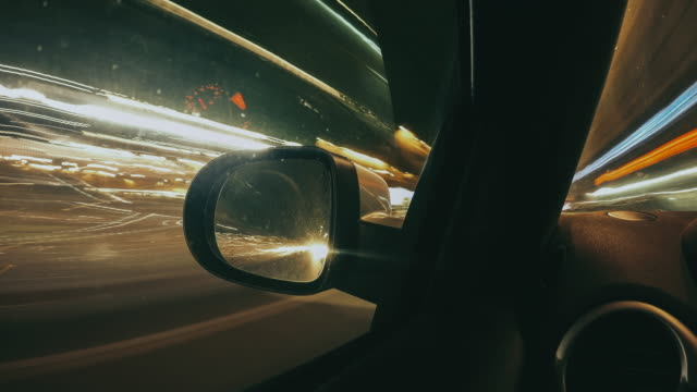 driving the car by night - timelapse video - business travel stock videos & royalty-free footage