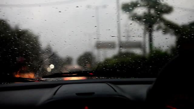 Driving the car during rainy season