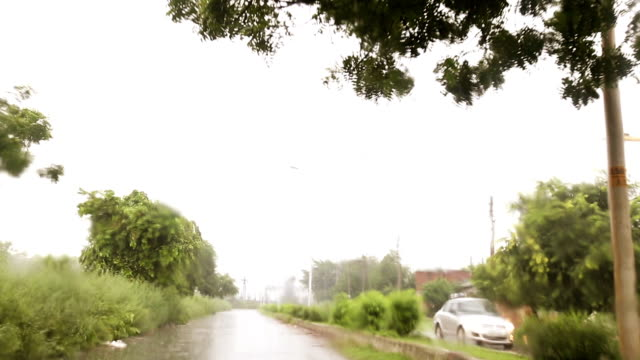 driving the car on the country road during rainy season - saving up for a rainy day stock videos and b-roll footage