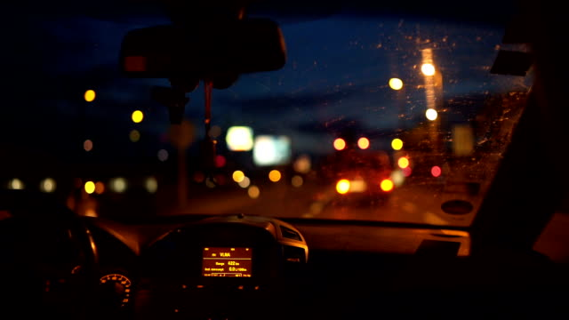 driving the highway at night - austria stock videos & royalty-free footage