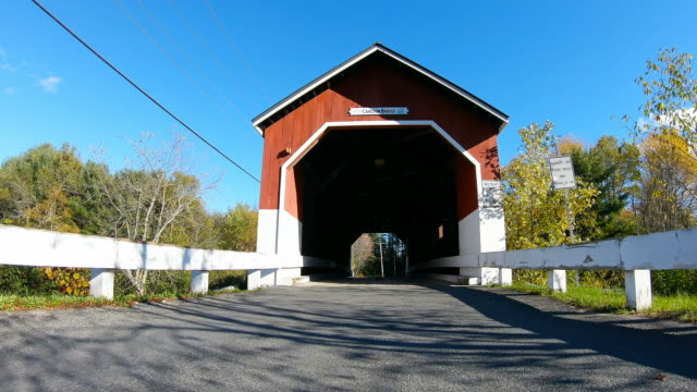 driving through a covered bridge - new hampshire stock videos & royalty-free footage
