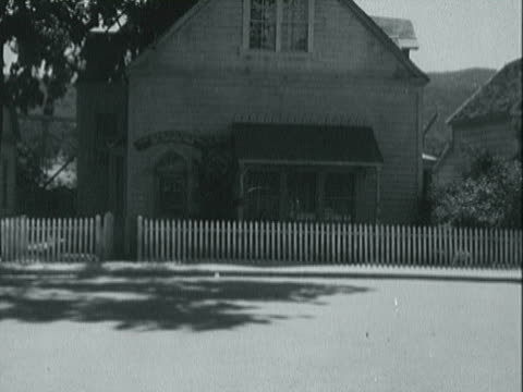 pov driving through a small town / california, united states - 1940 stock videos & royalty-free footage