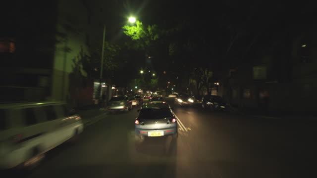 WS POV T/L Driving through busy King's Cross / Sydney, New South Wales, Australia