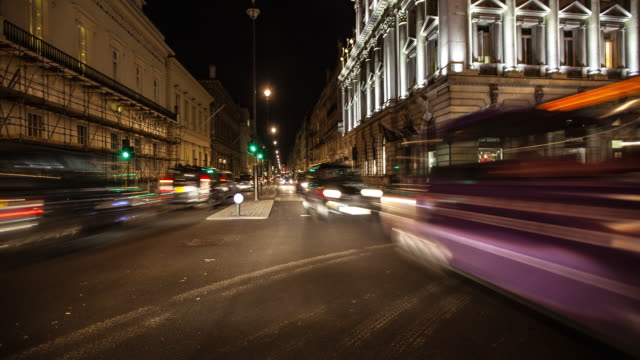 Driving Through Central London At Night.