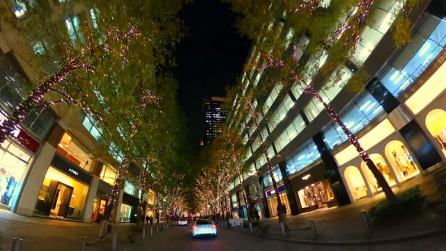 driving through christmas illumination - 360 stock videos & royalty-free footage