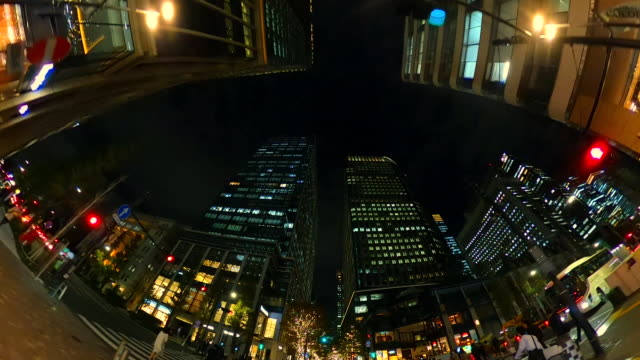 stockvideo's en b-roll-footage met rijden door kerstverlichting - low angle view