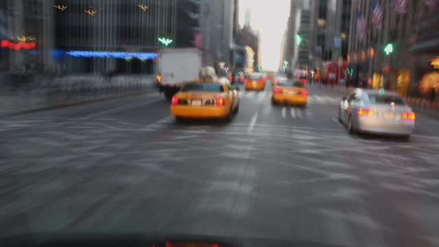t/l pov driving through city traffic, new york city, new york state, usa - queens new york city stock videos and b-roll footage