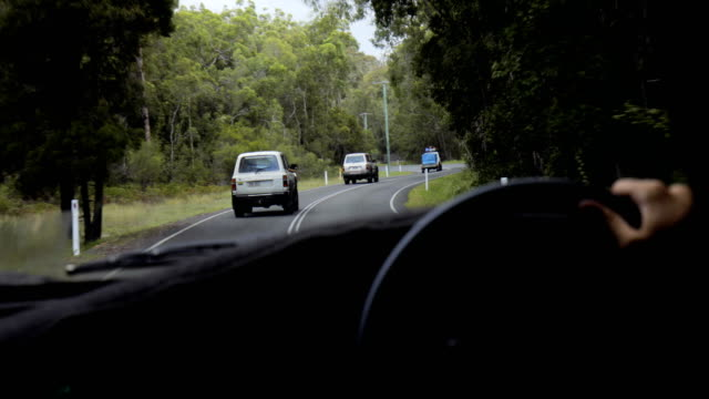 driving through fraser island - queensland stock videos & royalty-free footage
