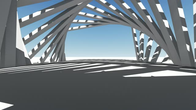 driving through futuristic abstract tunnel, 4k animation stock video - architecture stock videos & royalty-free footage