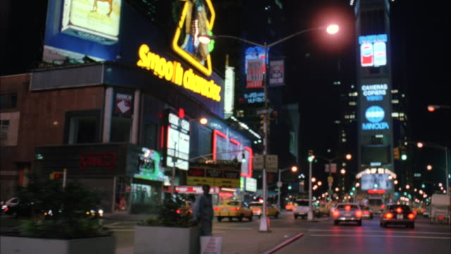 stockvideo's en b-roll-footage met ws pov driving through highway in city at night - 1992
