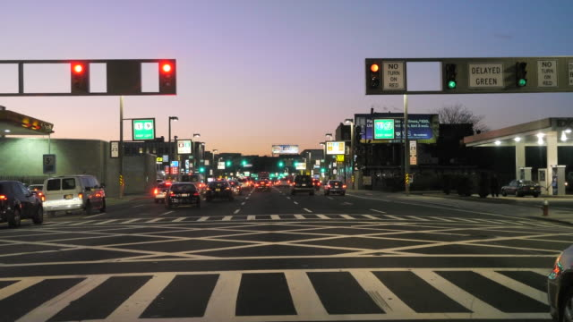 ws pov t/l  driving through highway traffic in city / nyc, ny, usa - traffic time lapse stock videos & royalty-free footage
