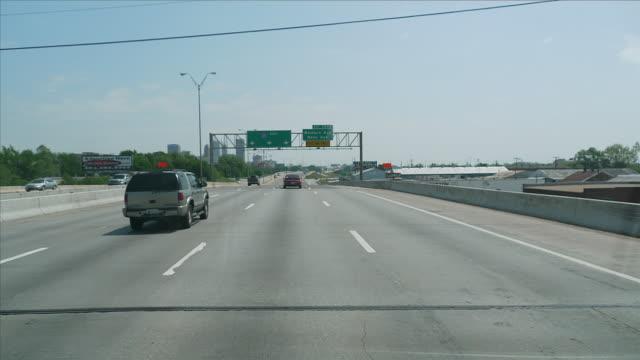 WS POV T/L  Driving through highway traffic in City / Oklahoma city, Oklahoma, USA